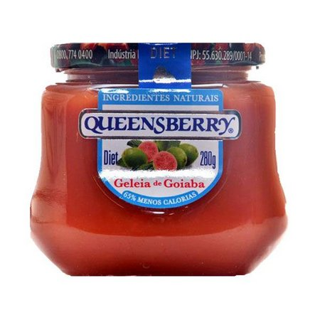 Geleia diet sabor Goiaba 280g Queensberry pote UN