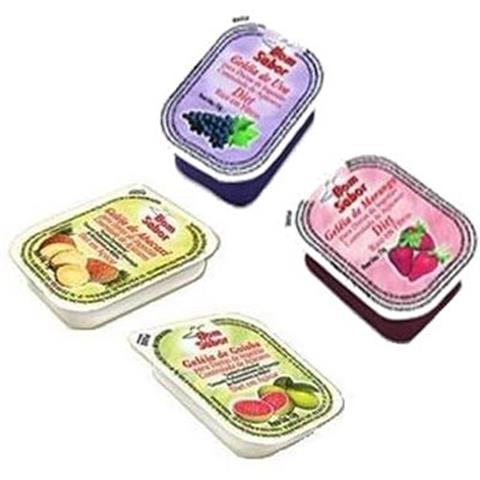 Geleia diet sabor Morango e Goiaba unidades de 15g Bom Sabor blister UN