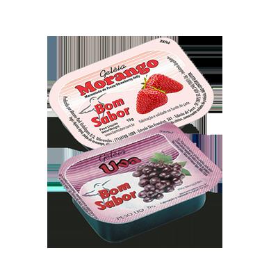 Geléia diet sabor morango e uva blister unidades de 15g Bom Sabor UN