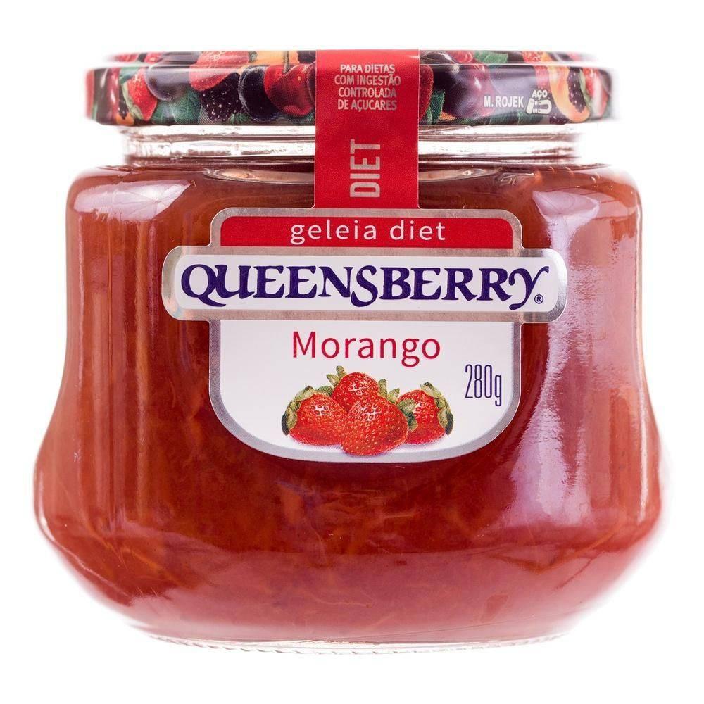 Geleia diet sabor Morango 280g Queensberry pote UN