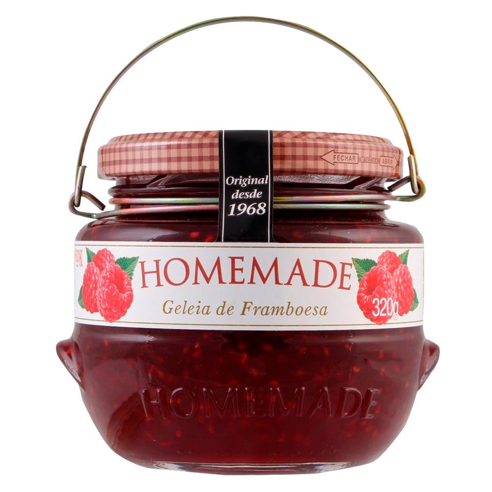 Geleia sabor framboesa pote 320g Homemade UN