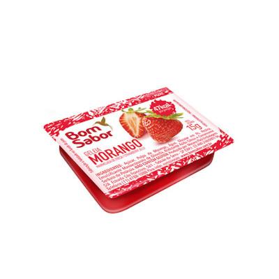Geleia sabor morango e uva blister unidades de 15g Bom Sabor UN