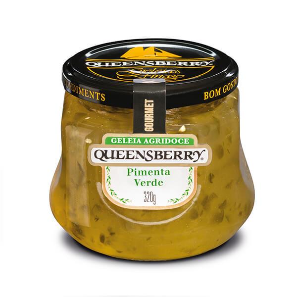 Geleia sabor Pimenta verde 320g Queensberry pote UN