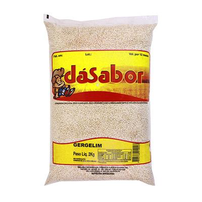 Gergelim branco 2kg DáSabor pacote PCT