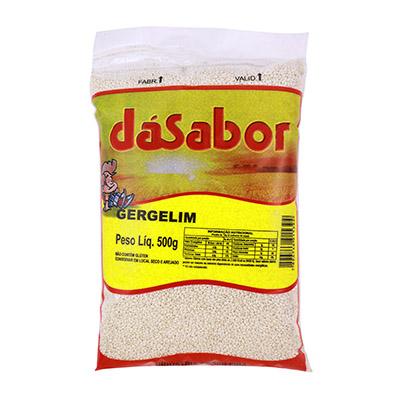 Gergelim branco pacote 500g DáSabor PCT