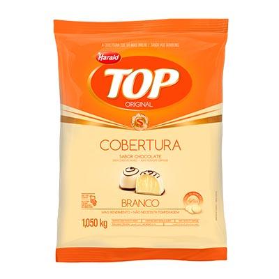 Gotas de Chocolate cobertura branco 1,05kg Harald/Top pacote PCT