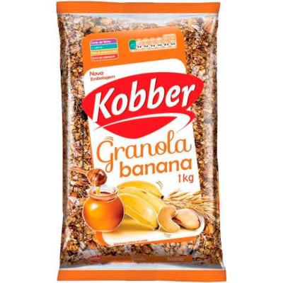 Granola com banana e mel 1kg Kobber pacote PCT