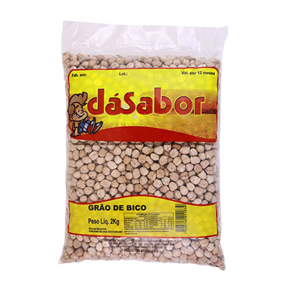 Grão de Bico pacote 2kg DáSabor PCT