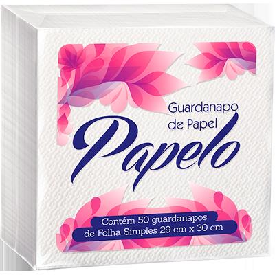 Guardanapo de Papel Folha Simples 29cm x 30cm 50 folhas Papelo pacote PCT