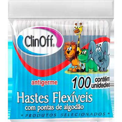 Hastes flexíveis  100 unidades Clin Off caixa CX