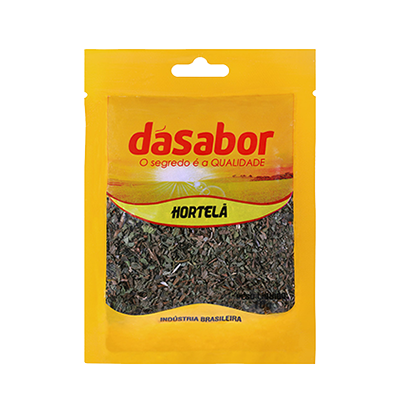 Hortelã desidratada 10g DáSabor pacote PCT