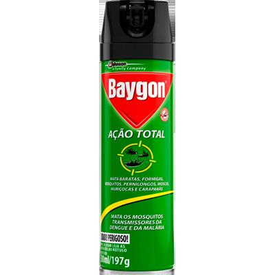 Inseticida aerosol 300ml Baygon Ação Total lata UN