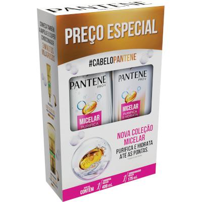 Kit contém Shampoo 400ml e Condicionador 175ml Micellar unidade Pantene  UN