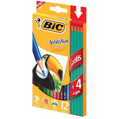 Lápis de Cor 12 Cores 12 unidades Bic Evolution caixa UN