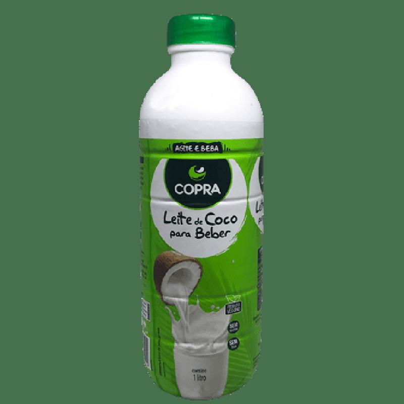 Leite de Coco para beber garrafa 900ml Copra UN