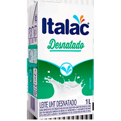 Leite Desnatado  1Litro Italac Tetra Pak UN