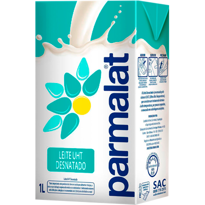 Leite Desnatado  1Litro Parmalat Tetra Pak UN