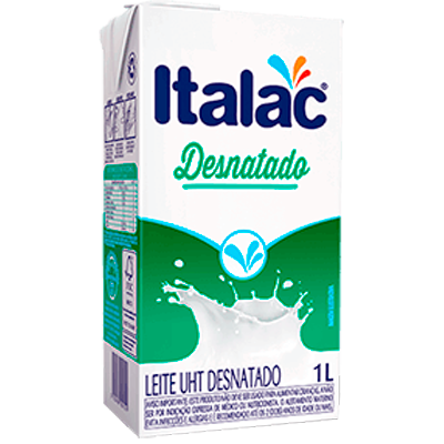 Leite Desnatado (venc. 15/08) Tetra Pak 1Litro Italac UN