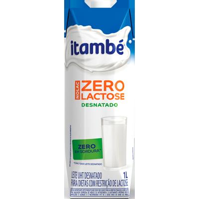 Leite Desnatado zero lactose 1Litro Itambé Tetra Pak UN