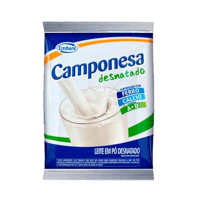 Leite em Pó desnatado pacote 500g Embaré/Camponesa PCT