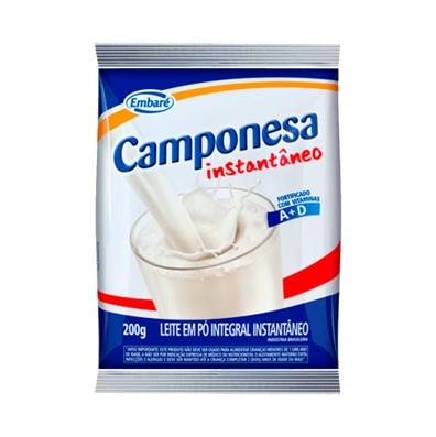 Leite em Pó instantâneo 200g Embaré/Camponesa pacote PCT