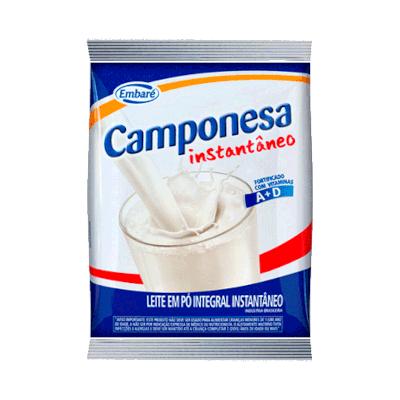 Leite em Pó Instantâneo 400g Embaré/Camponesa pacote PCT