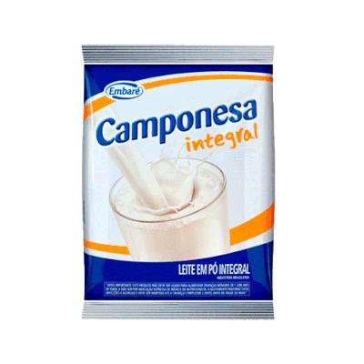 Leite em Pó integral 800g Embaré/Camponesa pacote PCT
