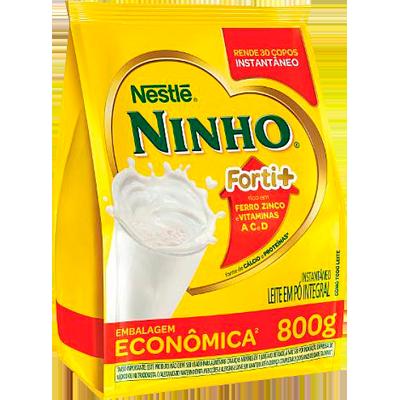 Leite em Pó integral pacote 800g Ninho PCT