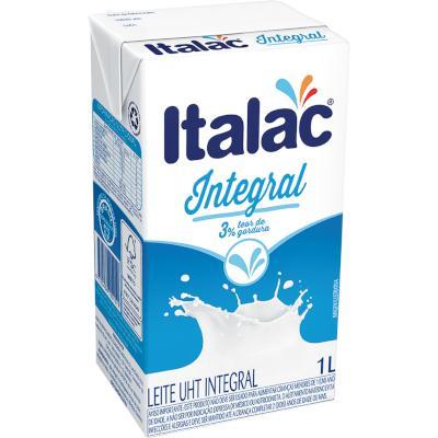 Leite Integral  1Litro Italac Tetra Pak UN
