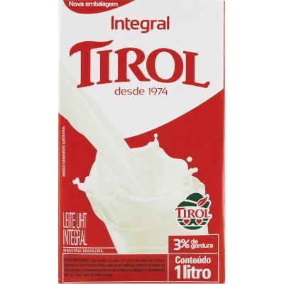 Leite Integral  1Litro Tirol Tetra Pak UN