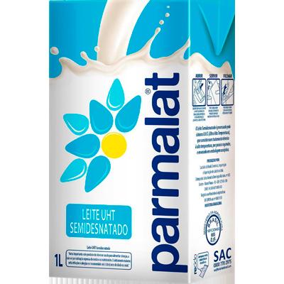 Leite Semidesnatado  1Litro Parmalat Tetra Pak UN