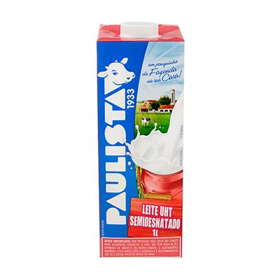 Leite Semidesnatado  1Litro Paulista Tetra Pak UN