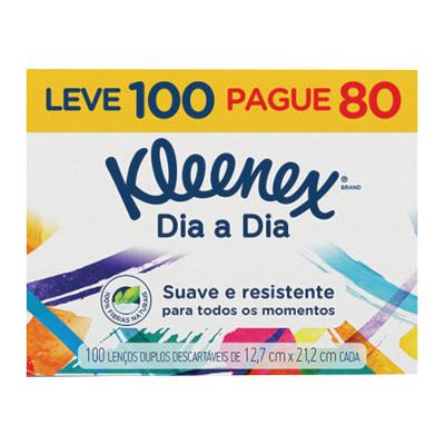 Lenço de Papel para bolso Leve 100 Pague 80 100 unidades Kleenex  UN