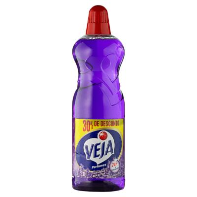 Limpador Perfumado Lavanda e Bem Estar 30% de desconto 1Litro Veja frasco FR