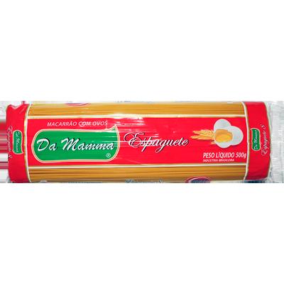 Macarrão Espaguete (8) com Ovos 500g Da Mamma pacote UN