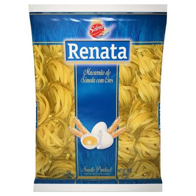 Macarrão Fettuccine com ovos pacote 500g Renata UN