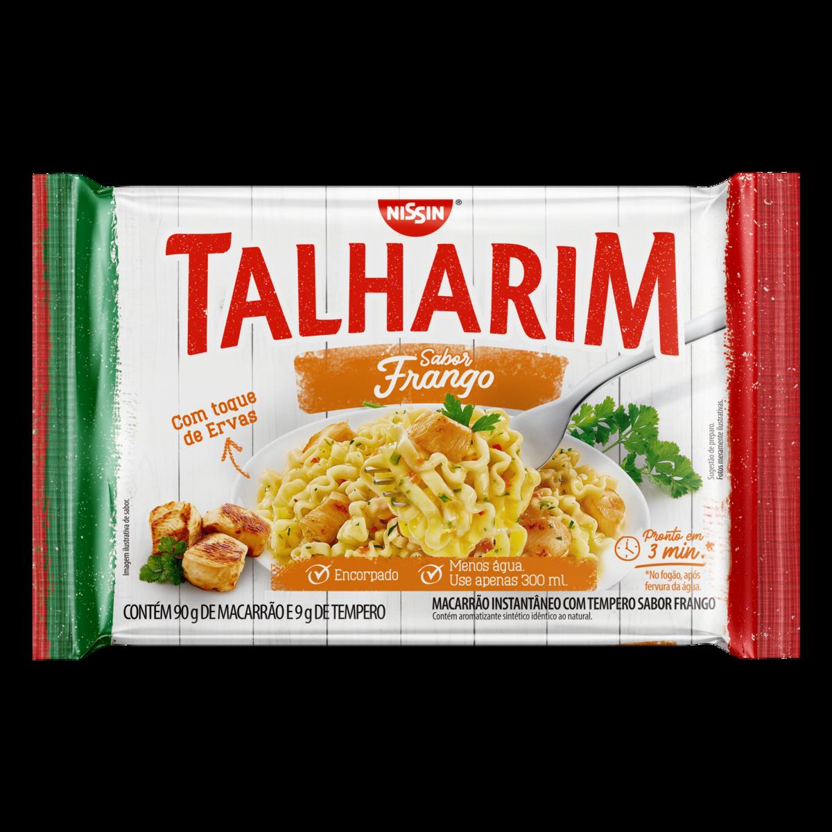 Macarrão Instantâneo sabor Frango 99g Nissin Talharim pacote UN
