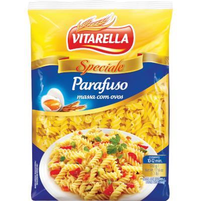 Macarrão Parafuso com ovos 500g Vitarella pacote UN