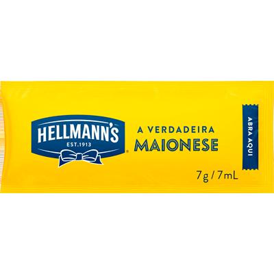 Maionese  unidades de 6/8g Hellmann's em sachês UN