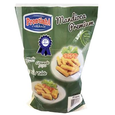 Mandioca tolete congelada pacote por kg Prontinha Premium KG