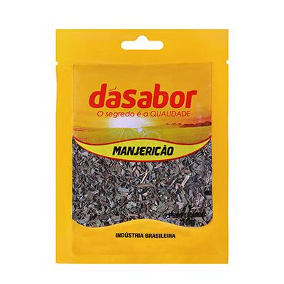 Manjericão desidratado 10g DáSabor pacote PCT