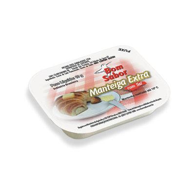 Manteiga com sal 192 unidades de 10g Bom Sabor caixa UN