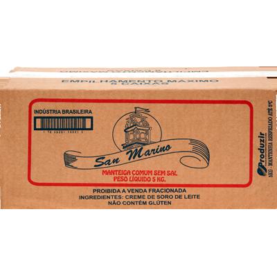 Manteiga sem sal por kg San Marino peça KG