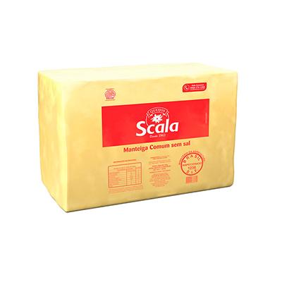 Manteiga sem sal por kg Scala peça KG