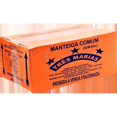 Manteiga sem sal por kg Três Marias peça KG