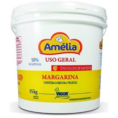 Margarina com Sal 50% Lipídeos 15kg Amélia balde BD