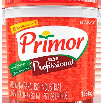 Margarina com Sal 75% Lipídeos 15kg Primor balde BD