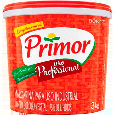 Margarina com Sal 75% Lipídeos 3kg Primor balde BD