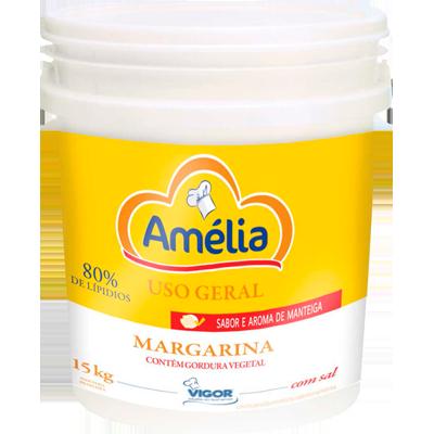 Margarina com sal 80% lipídeos balde 15kg Amélia BD
