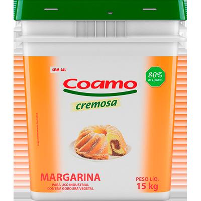 Margarina com sal 80% lipídeos balde 15kg Coamo BD